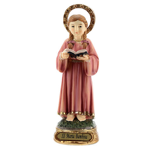 Holy Mary studying scripture resin statue statue 12.5 cm 1