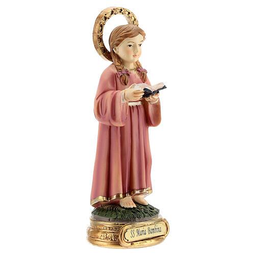 Santissima Maria bambina studio scritture statua resina 12,5 cm 3