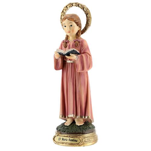Statue Marie Enfant tresses résine 20x6,5x6 cm 3