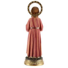 Statua Maria Bambina trecce resina 20x6,5x6 cm s5