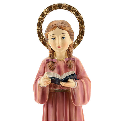 Statua Maria Bambina trecce resina 20x6,5x6 cm 2