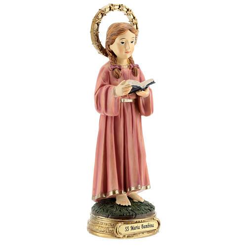 Statua Maria Bambina trecce resina 20x6,5x6 cm 4