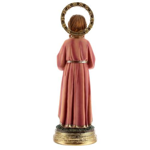 Statua Maria Bambina trecce resina 20x6,5x6 cm 5