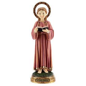 Marie Enfant qui étudie statue résine 30 cm s1
