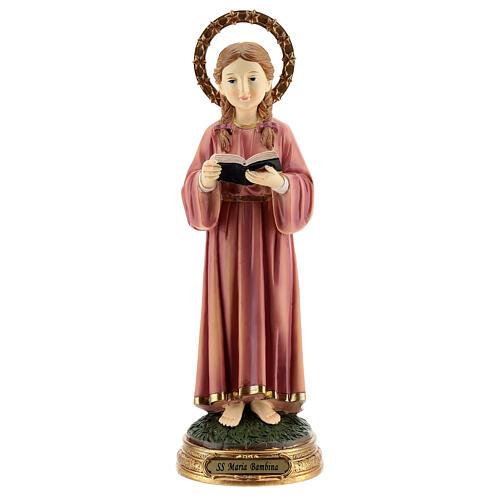 Marie Enfant qui étudie statue résine 30 cm 1