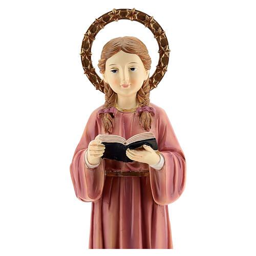 Marie Enfant qui étudie statue résine 30 cm 2
