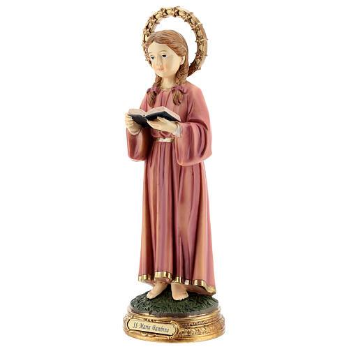 Marie Enfant qui étudie statue résine 30 cm 3