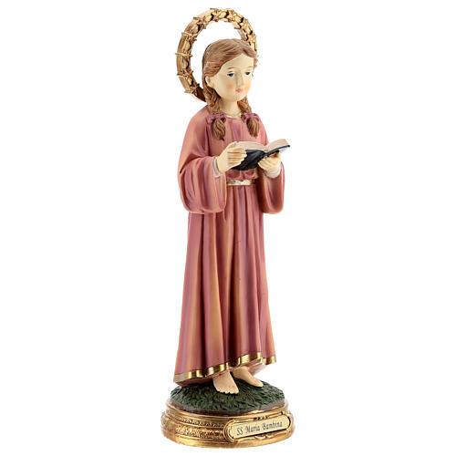 Marie Enfant qui étudie statue résine 30 cm 4