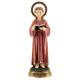 Child Virgin Mary studying statue resin 30 cm s1