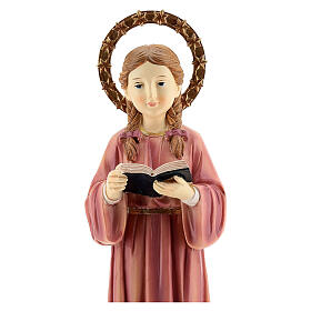 Child Virgin Mary studying statue resin 30 cm s2