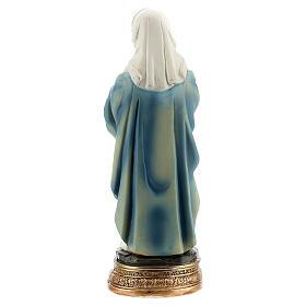 Marie enceinte livre statue résine 12 cm s4
