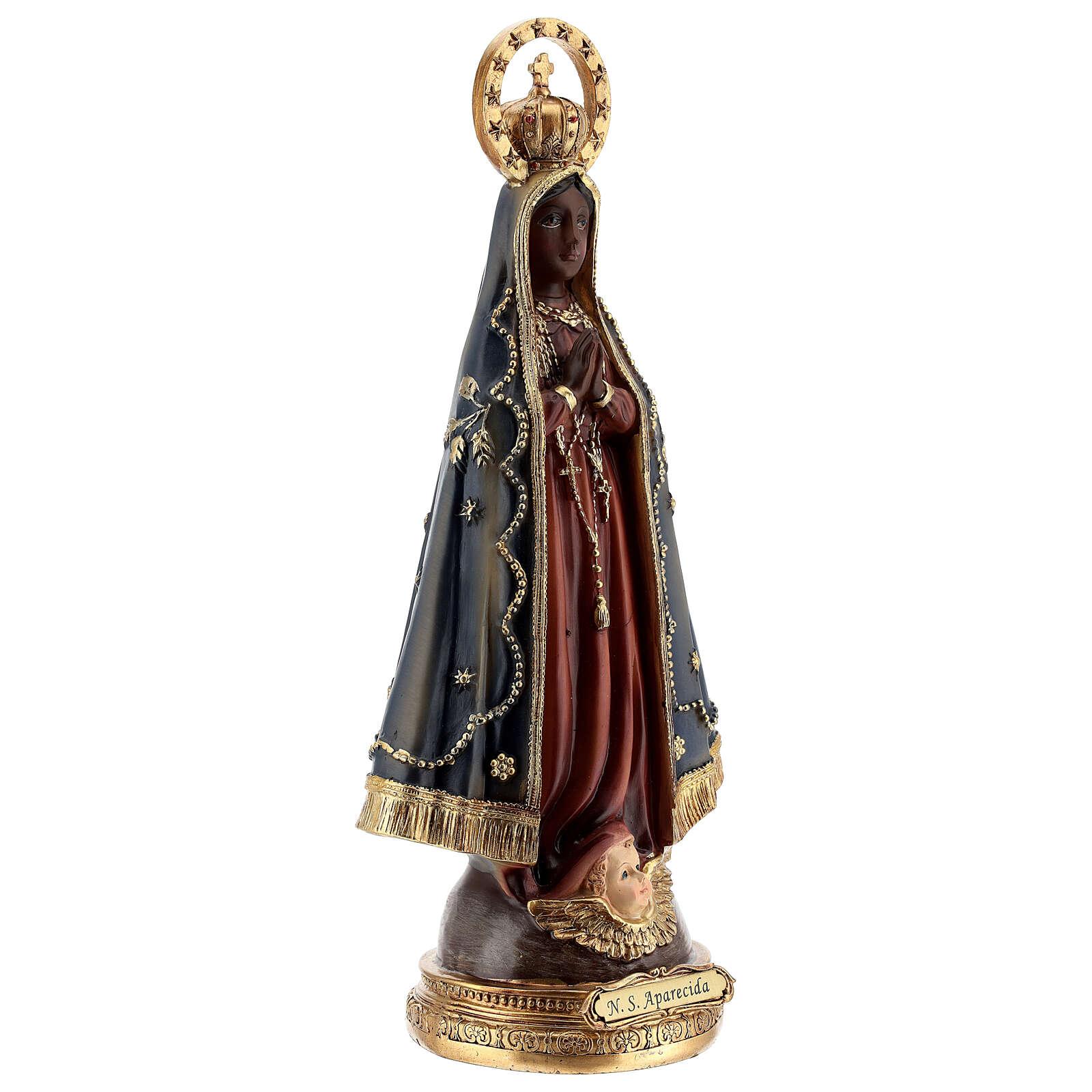 Notre-Dame Aparecida couronnée statue résine 31,5 cm 4