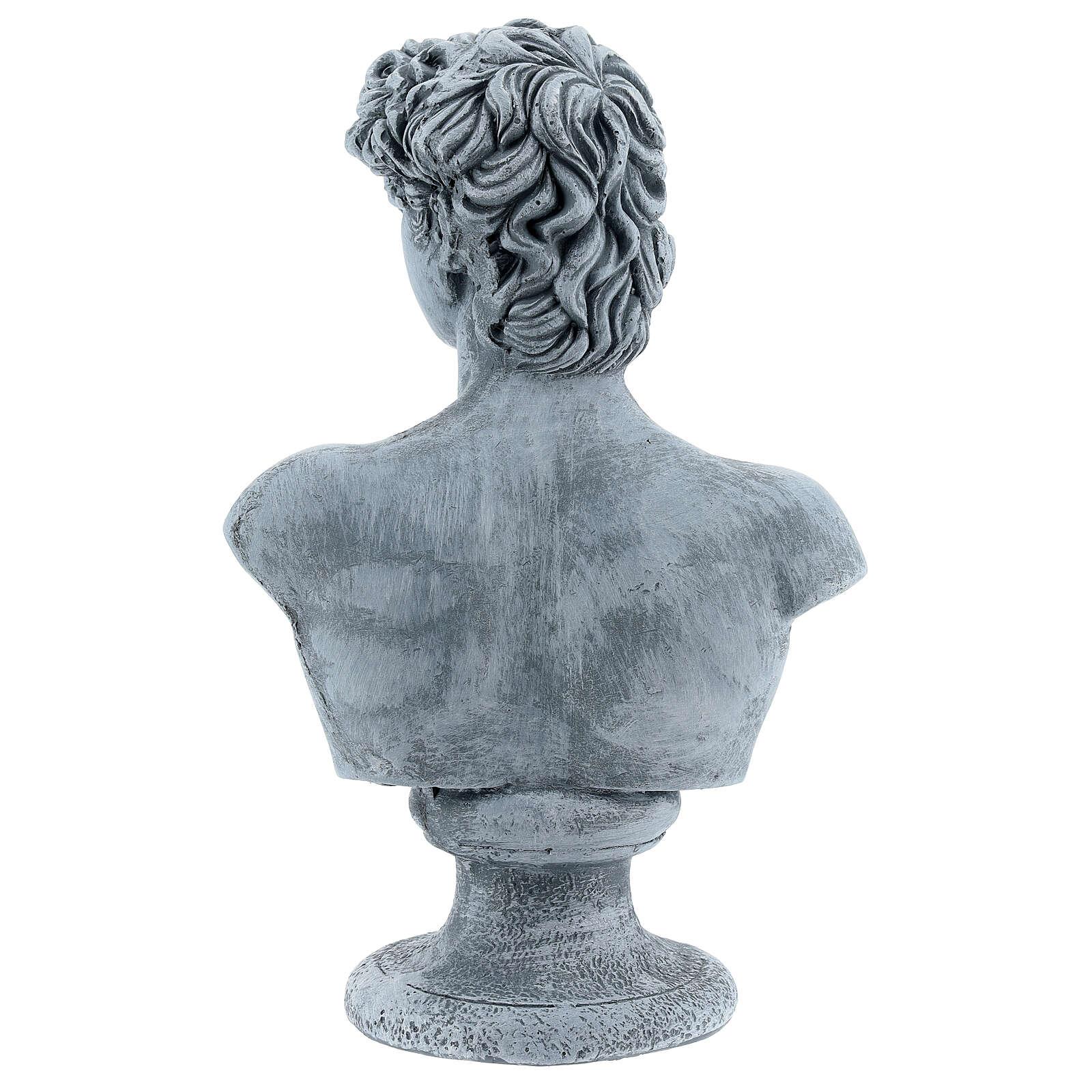 Busto David Miguel Ángel resina 30x19 cm 4