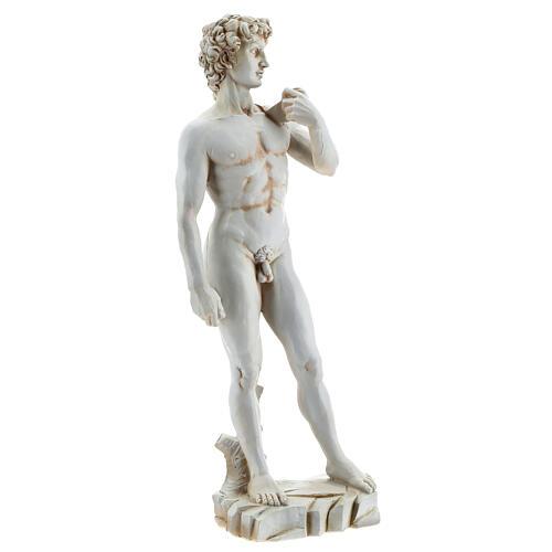 Michelangelo's David resin statue 31 4