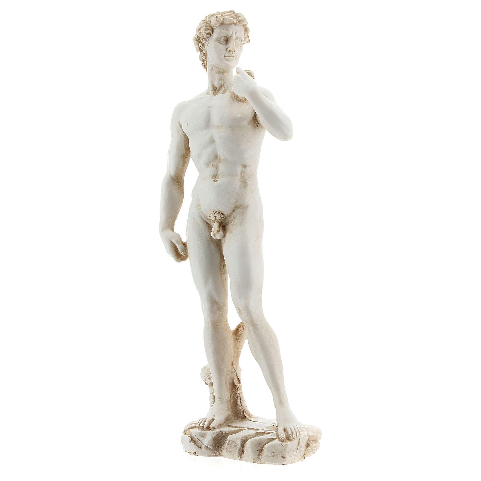Statue David Michel-Ange couleur marbre 21 cm résine 4