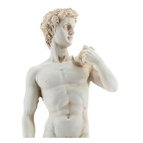 Statue David Michel-Ange couleur marbre 21 cm résine s2