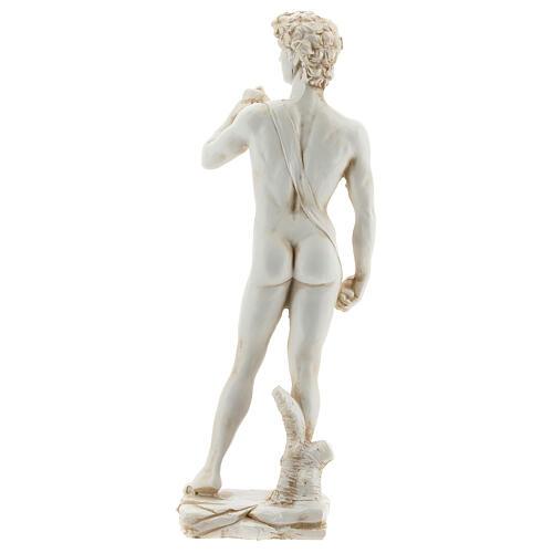 Statue David Michel-Ange couleur marbre 21 cm résine 5