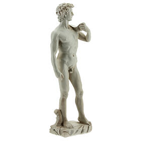 Marble-coloured Michelangelo's David resin statue 13 s3
