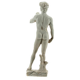 Marble-coloured Michelangelo's David resin statue 13 s4
