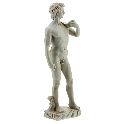Marble-coloured Michelangelo's David resin statue 13 3