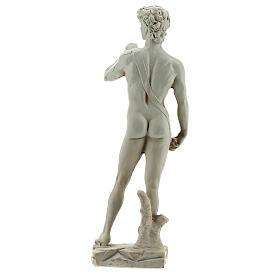 David a la manera de Miguel Ángel Buonarroti estatua resina 13 cm efecto mármol s4