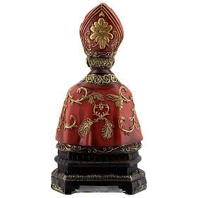 Saint Janvier décorations or buste résine 20x10,5 cm s4