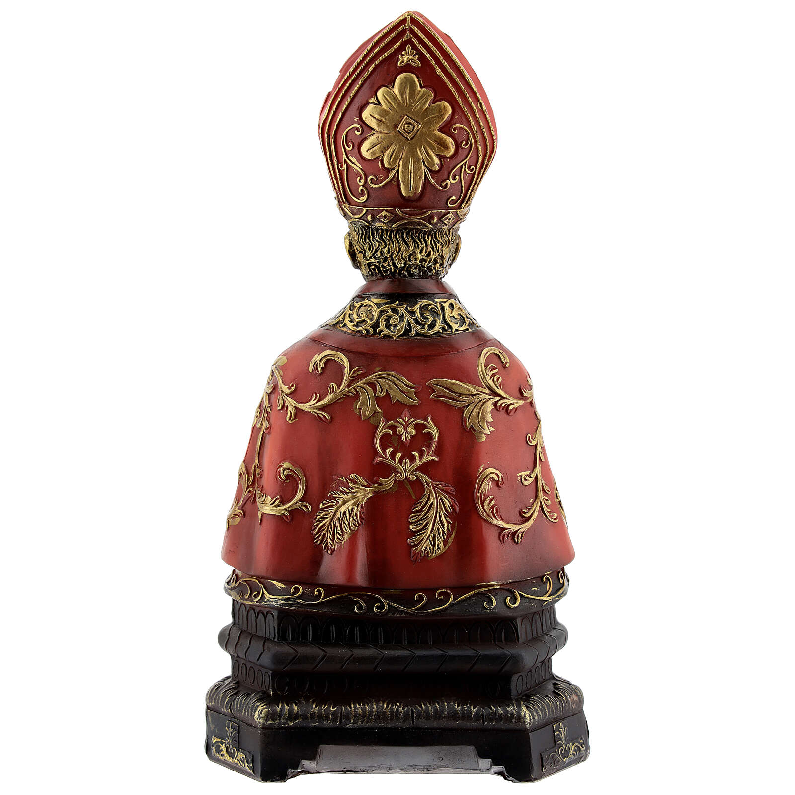Saint Januarius bust with gold decor in resin 20x10.5 cm 4