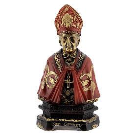 Busto San Gennaro scritta base resina 8 cm s1