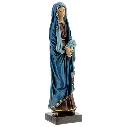 Our Lady of Sorrow joined hands resin 30 cm 4