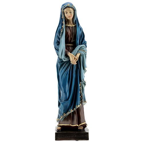 Estatua Virgen Dolorosa manos juntas resina 30 cm 1