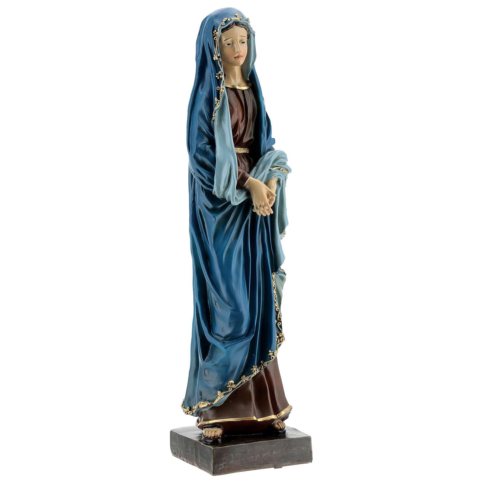 Statue Notre-Dame des Douleurs mains jointes résine 30 cm 4