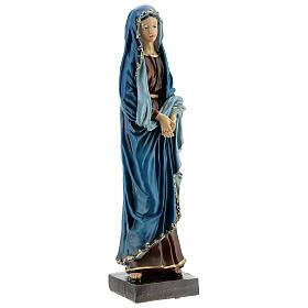 Statue Notre-Dame des Douleurs mains jointes résine 30 cm s4