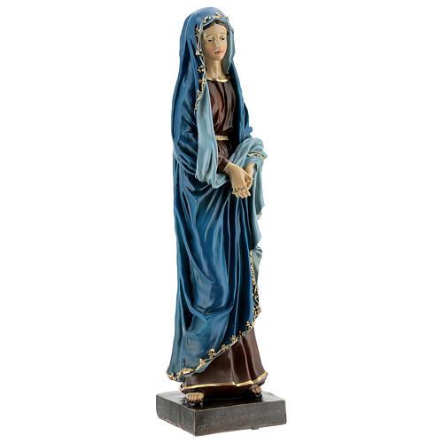 Statua Madonna Addolorata mani giunte resina 30 cm 4