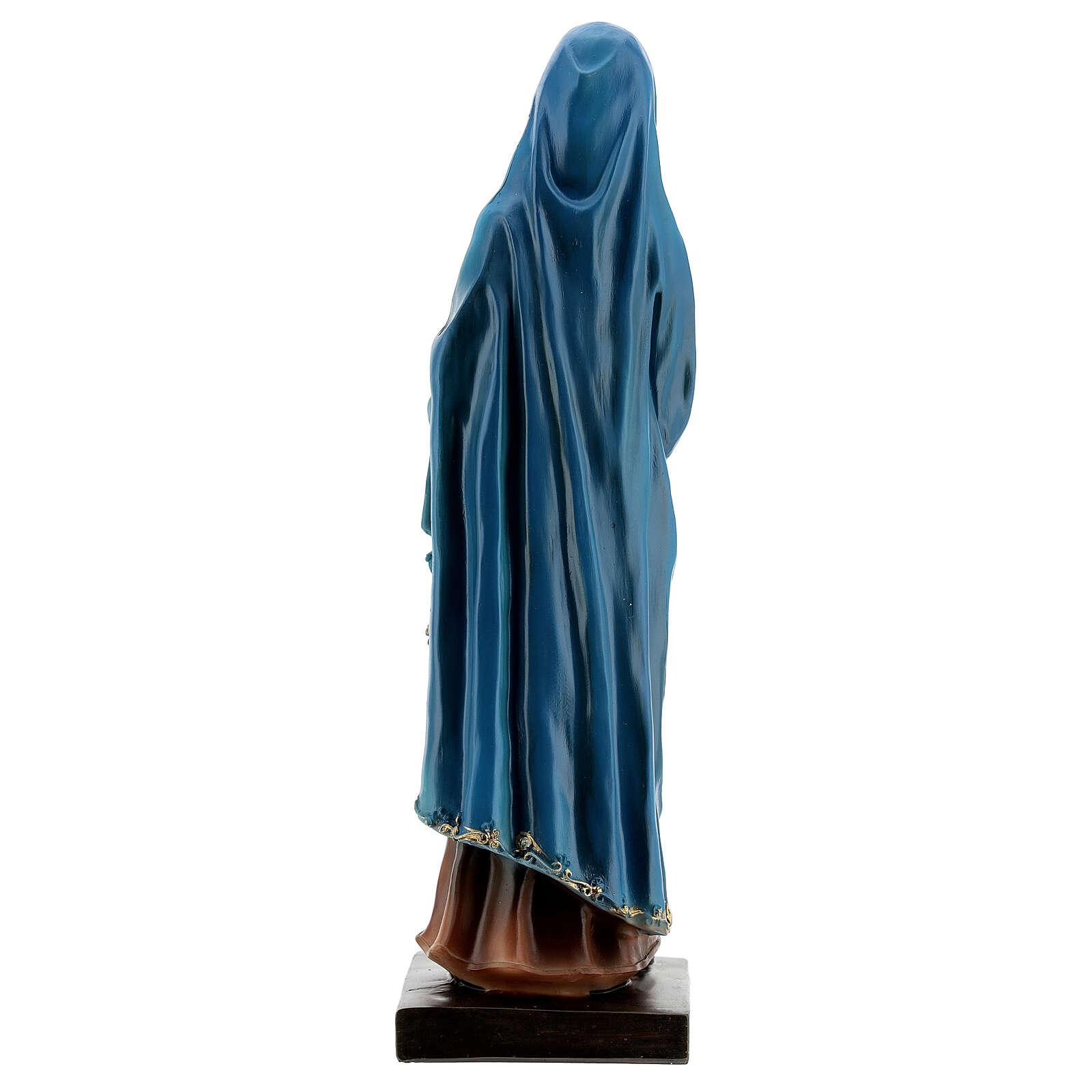 Virgen Dolorosa detalles oro estatua resina 20 cm 4