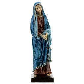 Madonna Addolorata dettagli oro statua resina 20 cm s1