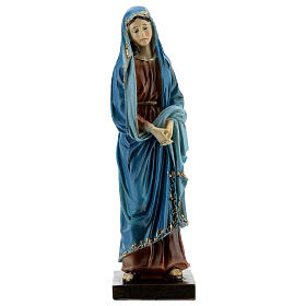 Our Lady of Sorrows statue with gold detailing resin 20 cm s1