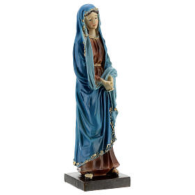 Our Lady of Sorrows statue with gold detailing resin 20 cm s4