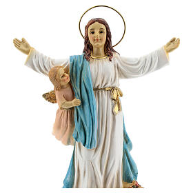 Assumption Mary angels statue resin 18x12x6 cm s2