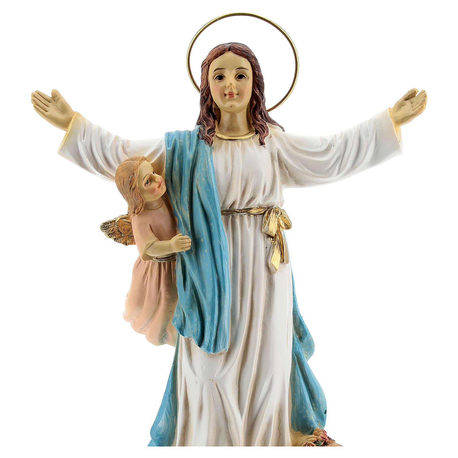 Assunzione Maria angeli statua resina 18x12x6 cm 4