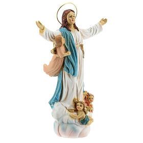 Assunzione Maria angeli statua resina 18x12x6 cm s4