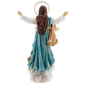 Assunzione Maria angeli statua resina 18x12x6 cm s5