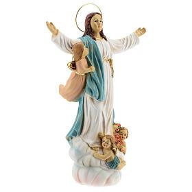 Statua Madonna Assunta angeli resina 30 cm s4