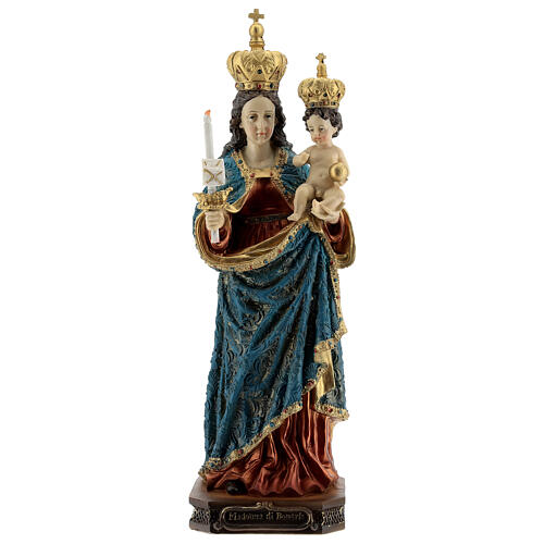Estatua Virgen de Bonaria con Niño resina 31,5 cm 1
