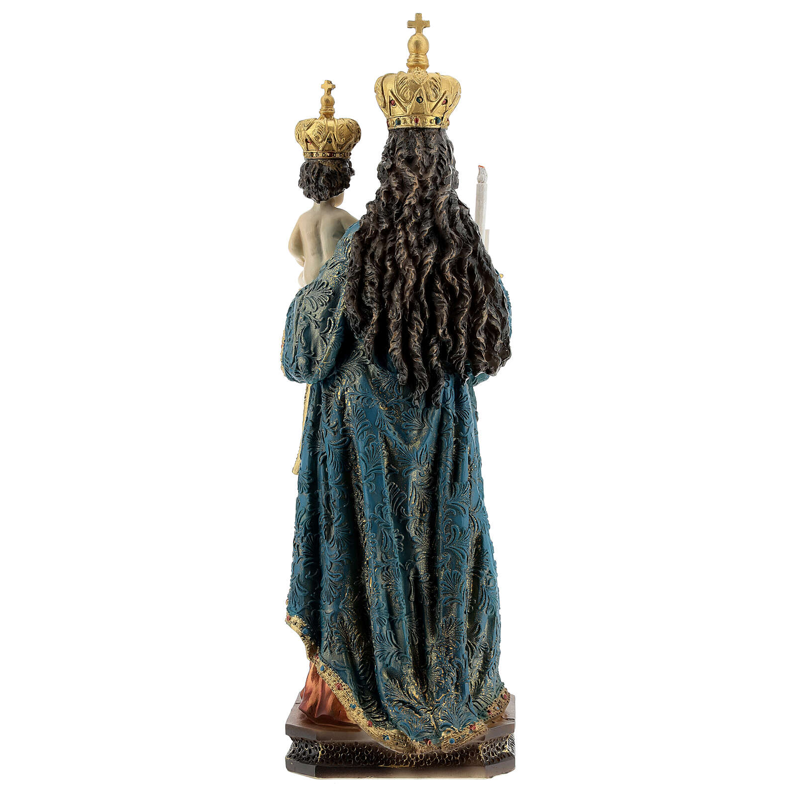 Statue Notre-Dame de Bonaria avec Enfant Jésus résine 31,5 cm 4