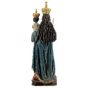 Statua Madonna di Bonaria con Bambino resina 31,5 cm s5