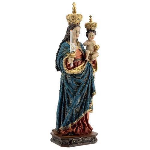 Statua Madonna di Bonaria con Bambino resina 31,5 cm 4
