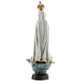 Estatua Virgen Fátima palomas resina 20 cm s5