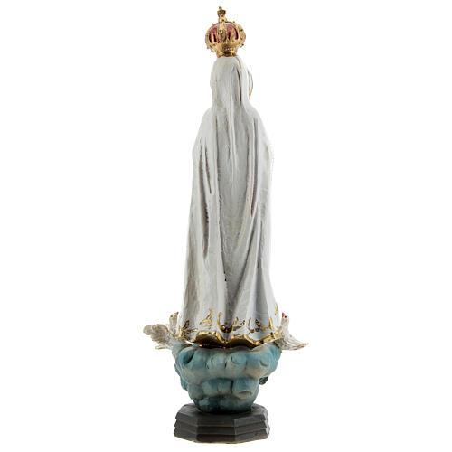 Estatua Virgen Fátima palomas resina 20 cm 5