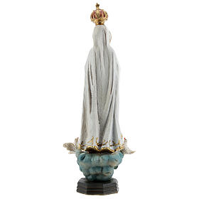 Statue of Our Lady of Fatima with doves, in resin 20 cm s5