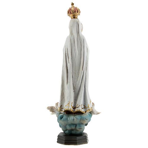 Statue of Our Lady of Fatima with doves, in resin 20 cm 5